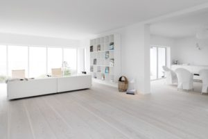how to get scandinavian white wood floors