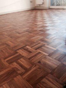 teak floor sanding London after