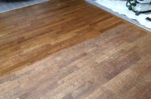 Oak floor repair in Darlington, Co Durham