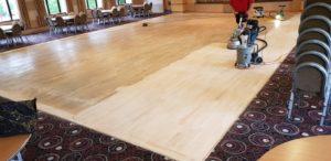 Restoration the Police Sports Club Dance Floor