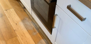 Recovering an oven stripped floor